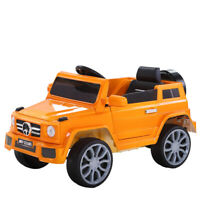 Kids Ride On Car 12V Electric Toys Battery w/ Remote MP3 LED Light Black Yellow