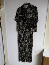 WOMENS Outfit JPR SHIRT/PANT PANT SUIT  RAYON SAFARI PATTERN DRESS TOP LADIES M