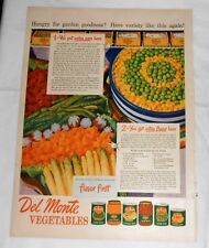 1947 Del Monte VEGETABLES Advertisement - Page from June 9, 1947 Life Magazine