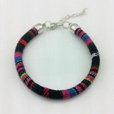 Colorful Vintage Bohemian Knitted Ribbon Bracelet Beach Boho Handmade Jewelry