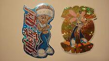 Lot(2) ROCK STAR Fairy GHETTO GIRL Hip Hop Vending Machine Brand Imports Sticker