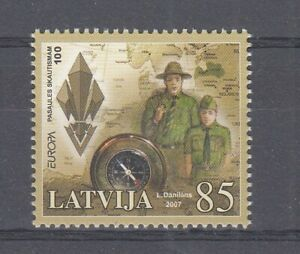 Europe Cept 2007 Lettonie Scout Scouts (MNH)
