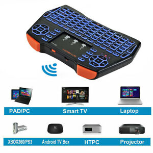 US Mini Keyboard Portable 2.4GHz Controller Touchpad Mouse Combo+Li-ion Battery