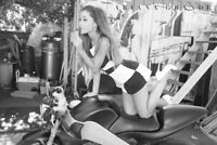 ARIANA GRANDE ~ WITH SUCKER ON MOTORCYCLE 24x36 Music Poster NEW/ROLLED!