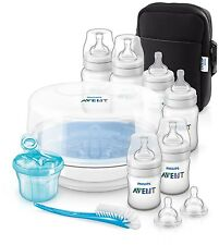 Baby Bottle Feeding Essential Set Microwave Steriliser & Milk Powder Dispenser