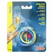 LM Living World Athletic Rings with Bell Bird Toy Athletic Rings with Bell Bird