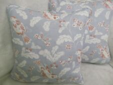 "SONGBIRD  BY JANE CHURCHILL 1 PAIR OF 18"" CUSHION COVERS - DOUBLE SIDED!"