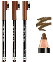RIMMEL London Eyebrow Pencil with Brush Comb Definition *PACK OF 3* *002 HAZEL*