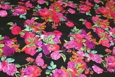 2.5m x 1.65m wide BALI FLORAL Med-Weight Swimwear Lycra Fabric