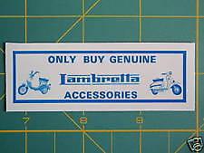 LAMBRETTA (Vespa) Scooter Dealer Service Accessory Sticker GP,TV,LI,SX,GT 200 TS