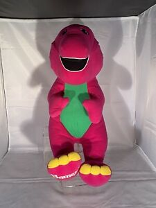 Vintage 90s Talking Barney Playskool Plush
