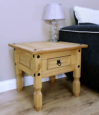 Corona 1 Drawer Lamp Table Side End Mexican Solid Pine by Mercers Furniture®