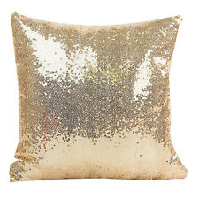 Glitter Sequins Solid Gold Color Throw Pillow Case Cushion Cover Cushion New