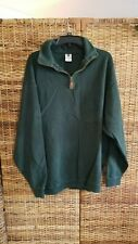 Columbia Long Sleeve Sweatshirt 1/2 Zip XXL 100 cotton Green