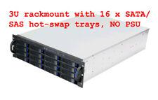 3U (16 x SATA III or SAS Hot-Swap Tray)(Rackmount Chassis) Server EATX Case NEW