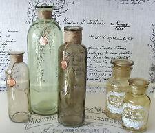 3 Apothekerflaschen  Flaschen  Glasflaschen Shabby - antik  Landhaus Vintage