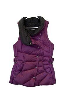 Lululemon Reversible Get Down Vest Size 6 Purple/black