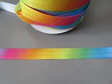 Rainbow pliegue sobre cinta elástica 1.6cm X 1 Metro Costura/Artesanía/pastel