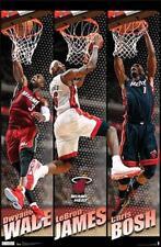 Vintage Classic MIAMI HEAT 2012 Poster - LeBron James, Dwyane Wade, Chris Bosh
