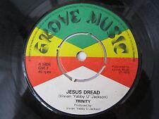 "TRINITY Jesus Dread / Yabby U Sound GROVE MUSIC RECORDS 7"" VINYL GM 7 A-1U/B-1U"