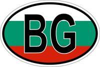Autocollant sticker ovale oval drapeau code pays BG bulgarie