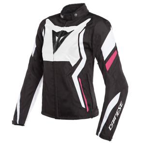 Jacket Women's Motorcycle Dainese Edge Tex Lady Black White Fuchsia Size 40