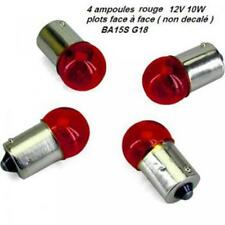 4 bombillas de intermitente rojo 12V 10W BA15S G18 ( contactos frente a cara
