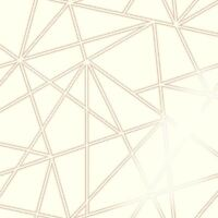 PALADIUM GEOMETRIC WALLPAPER CREAM / ROSE GOLD HOLDEN 90113 FEATURE WALL NEW