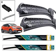 "Renault Captur Front Pair Flat Aero Wiper Blades  26"" 14"" Windscreen 2013 - 2015"