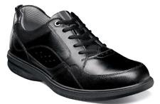 Mens Comfort Nunn Bush Kore Walk Moc Toe Oxford Shoes Lace up Black 84811-001