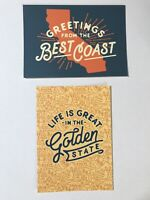 Postcards Lot 2 Life Is Great In The Golden State California