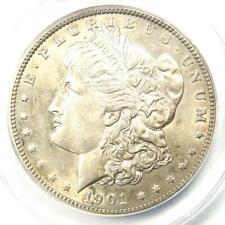 1901 Morgan Silver Dollar $1 (1901-P) - ANACS MS60 Details (UNC) - Rare in UNC!