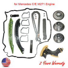 For Mercedes C-Class W204 M271 Camshaft Gears & Timing Chain Kit & Tensioner New