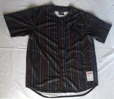 New York Yankees Gay Pride Pinstripe Jersey by Stitches Athletic Wear-XL-Rare
