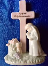 Russ Girl Communion Holy Cross Praying kneeling Remembrance Gift  Figurine NEW