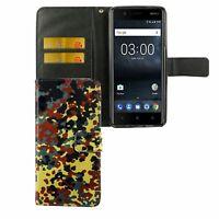Schutz Hülle für Handy Nokia 3.1 2018 Bundeswehr Tasche Wallet Cover Case Neu