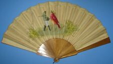 Great Hunt Allen Type(?) folding hand fan - Mouse guides Red Bird to Paris