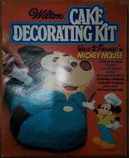 RARE Wilton Cake Decorating Tray Tin Walt Disney's Mickey Mouse Pan & Tools