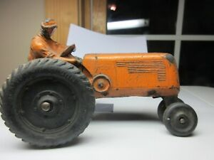 RARE  Vintage Auburn 6 inch Oliver Row Crop Tractor with Driver