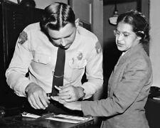 1955 Civil Rights Activist ROSA PARKS Glossy 8x10 Photo Fingerprints Print