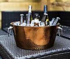 BREKX Hammered Rose Gold Stainless Steel Beverage Tub - Extended Insulation - 17