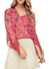 BCBGMAXAZRIA  NICKELETTE BATIK-PRINTED TOP  SIZE  SMALL   msrp $228