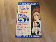 Somerset Maugham's Classic Comedy THE CONSTANT WIFE LYRIC Theatre Poster