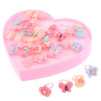 36 Pieces Handmade Cartoon Resin Finger Rings Kids Gift Girls Jewelry Toys