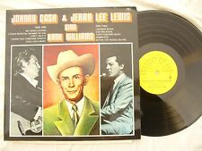 JOHNNY CASH & JERRY LEE LEWIS SING HANK WILLIAMS sun 6467 018..33rpm / 60's