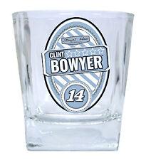 NASCAR #14 CLINT BOWYER 12oz GLASS TUMBLER SET-NASCAR GLASSES-2 PACK