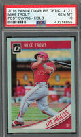 Mike Trout Angels 2018 Panini Donruss Optic Baseball Card #121 PSA 10 GEM MINT