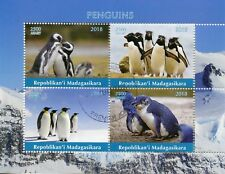 Madagascar 2018 CTO Penguins Emperor Penguin 4v M/S Birds Bird Stamps