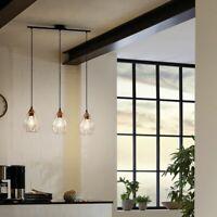 Pendelleuchte E27 Küche schwarz Stahl Wohnzimmer Zeitlos