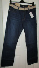 BNWT Mens Indigo Jeans With Belt Size 34L